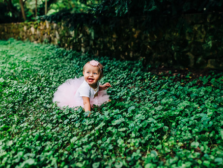 Kannon's One Year Milestone Photography Session at Knoxville Botanical Gardens