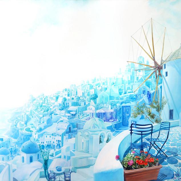 s_여행자-풍차 l Acrylic on canvas l 120x130cm