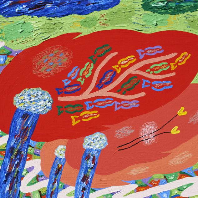 s_15_사유의 숲 - 나무, 붉은 꿈길이 되어_Acrylic on ca