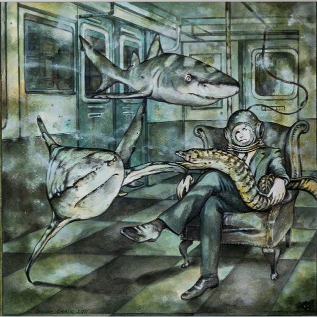 Corinne Chaix, Underwater Society, Acryl