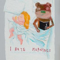 s_I Hate Morning 162.2x130.3 oil on canv