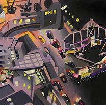 "ight Chaos (Santa Monica), 11.5"" x 31, c"