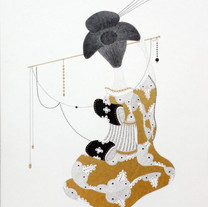 s_Something,2011,34.5x25cm,Pencil,gold c