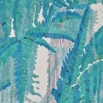 s_plant-forest 2, collage on canvas, 53.