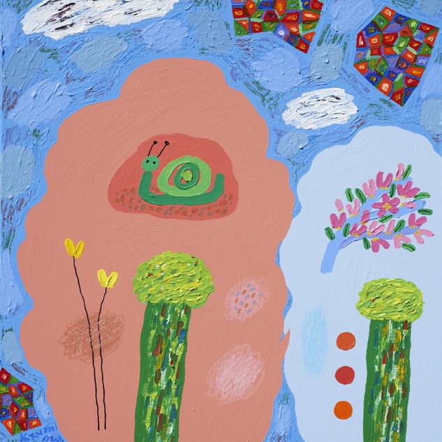 s_14_사유의 숲_나무와 시_Acrylic on canvas_45.5x