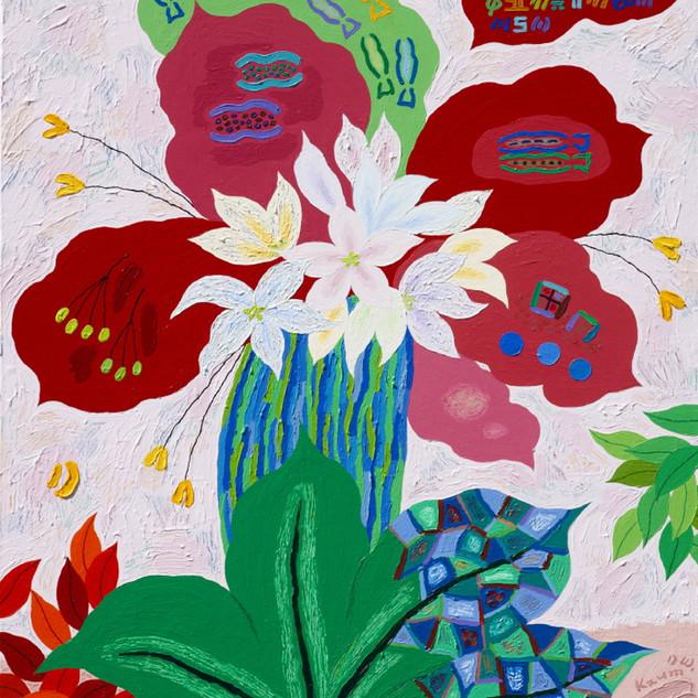 s_18_아득한 은유_잎새, 꽃길이 되어 시가 되어_Acrylic on
