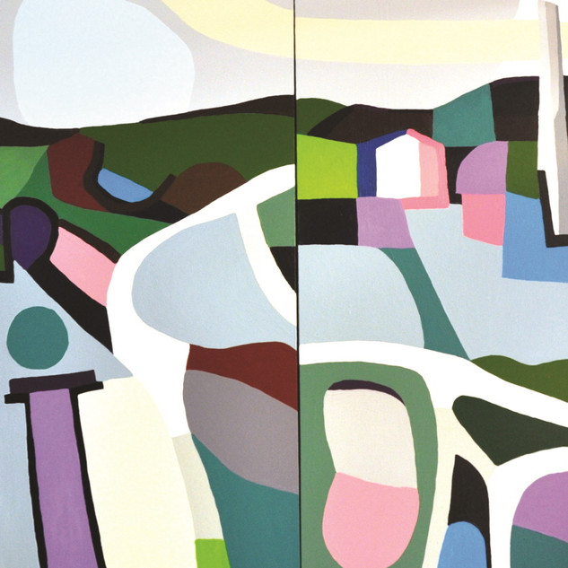 s_living together no 2,acrylic on canvas