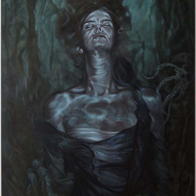Corinne Chaix, Genie of the River, Acryl