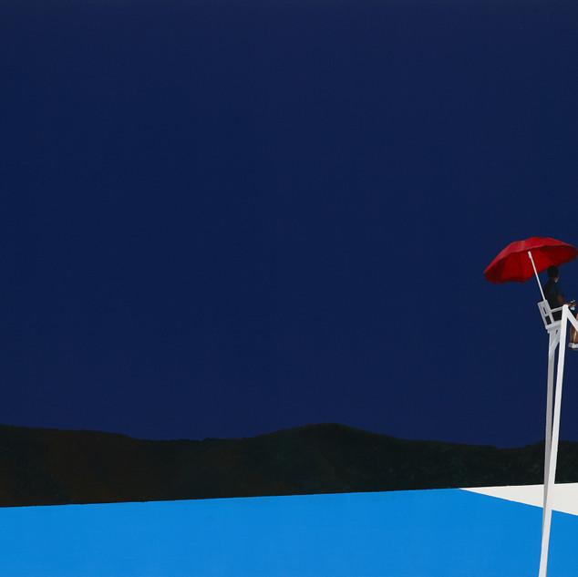 s밤수영 2018  aclic&oil on canvas 97X145.5c