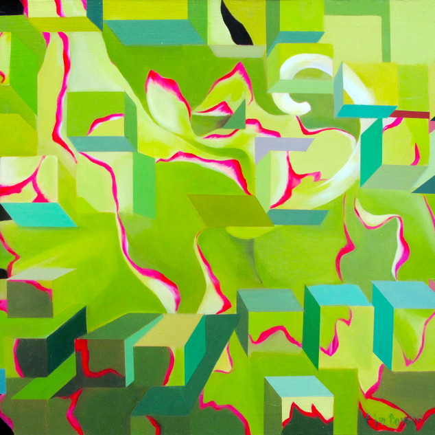 My QR Code-53¡¿45.5§¯-oil on canvas-2009