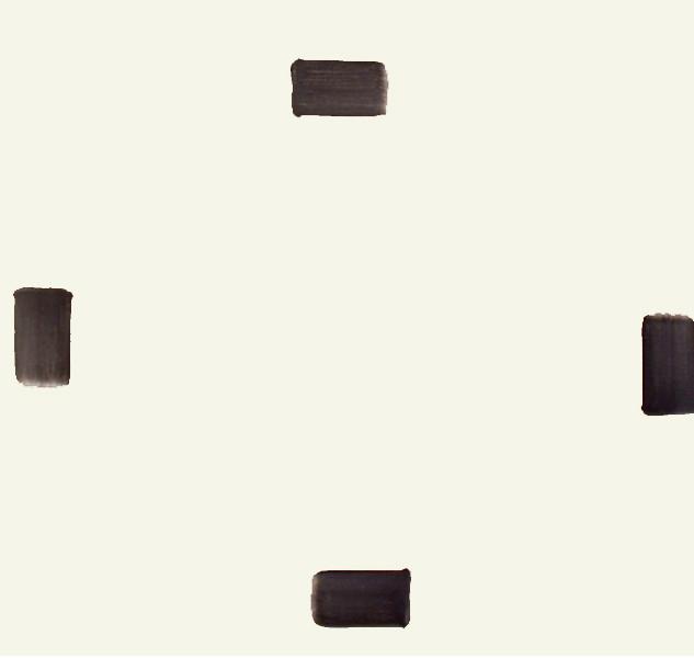 Lee Ufan, Correspondance, 1994, Pigment