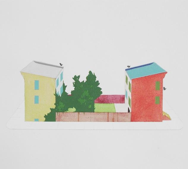 Chris Ballantyne, Short Block, Acrylic o