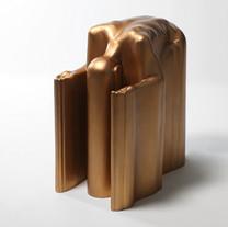 M절을하다 bow down, 2014, bronze, 108x55x105