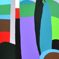 Three trees, Namsan Park acrylic on canv
