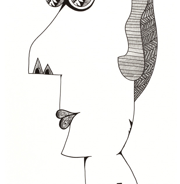 s_HA Jung-Woo_Indian_162x68cm_pen on can