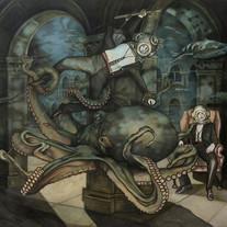 Corinne Chaix, Puppeteer, Acrylic, ink,