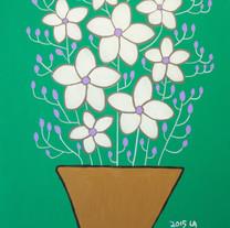 M222. Everlasting Flower, Acrylic, oil p