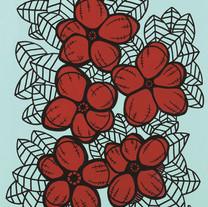 s_HA Jung-Woo_Red flower2_50x39cm_acryli