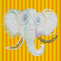 s_How to Be an Elephant 100.0x80.3cm oil