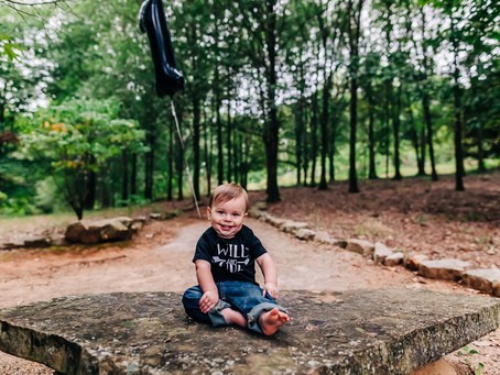 Jungle Themed Milestone Session at Knoxville Botanical Gardens