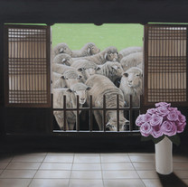 s_ANTIC and Lambs Oil on canvas 116.7 x