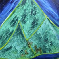 [크기변환]빛나는 밤, 2018, Oil on canvas, 162.0