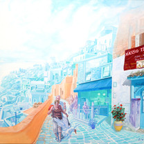 s_여행자-물벼락 l Acrylic on canvas l 73x91cm