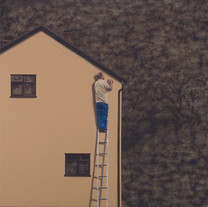 Lee Kyoung Ha, A ladder work, Charcoal a