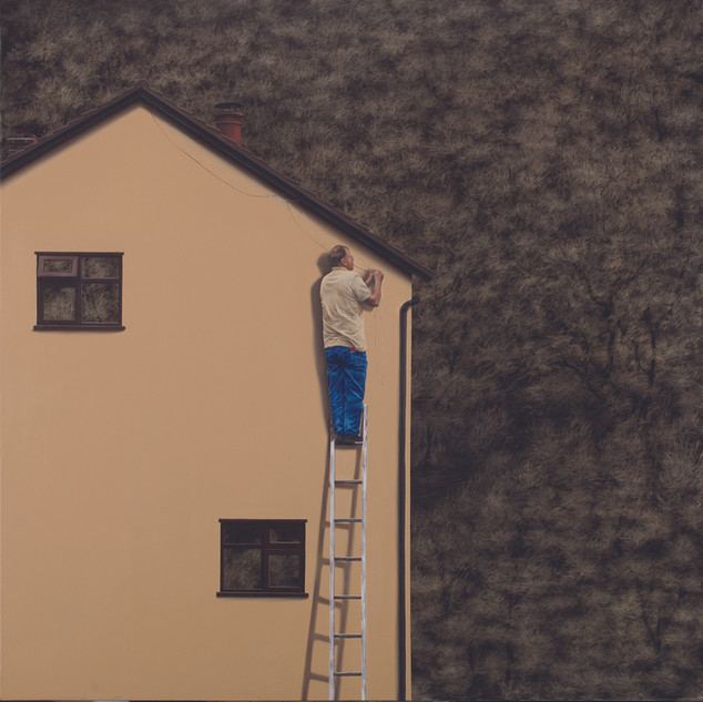 Lee Kyoung Ha, A ladder work, Charcoal a