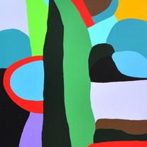 one tree,namsan park, acrylic on canvas,