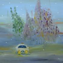 [크기변환]기다리는 자동차, 2018, Oil on canvas, 97.