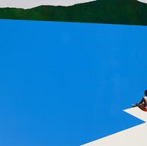 s수영장 2018 acrylic&oil on canvas 130.3X16