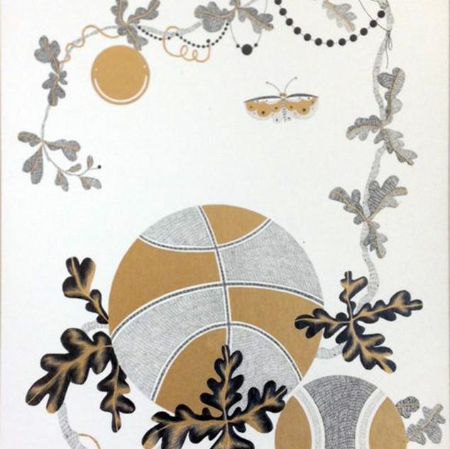 s_Something,2011,37.5x27.5cm,Pencil,gold