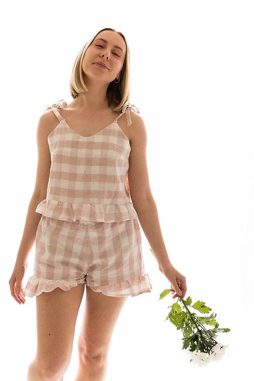 Linen Cami & Shorts PJ set