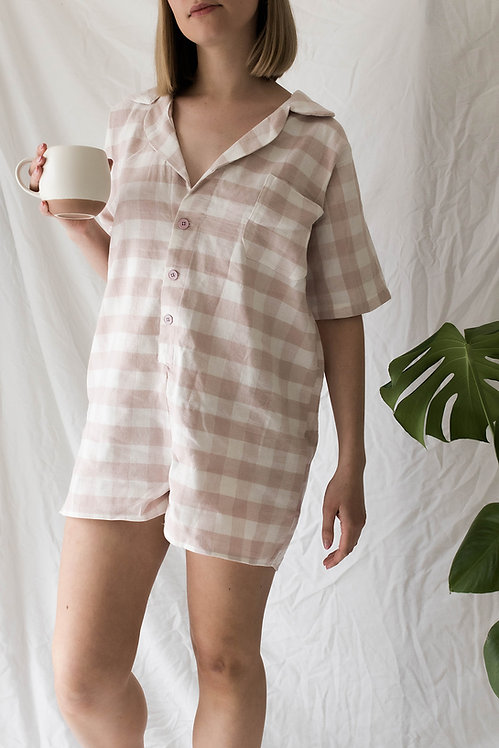 Linen Playsuit Pyjamas