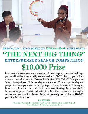 HEDCO INC The Next Big Thing Competition