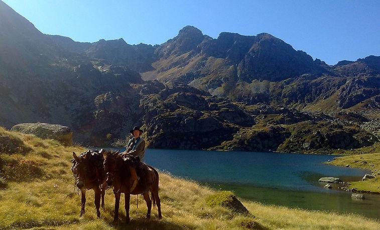 randonnée équestre Lacs Pyrénéens Andorre