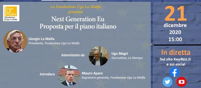 Proposta per il piano italiano, oggi alle 15 intervista a Giorgio La Malfa