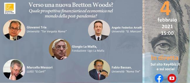 Verso una nuova Bretton Woods? Appuntamento online oggi alle 15