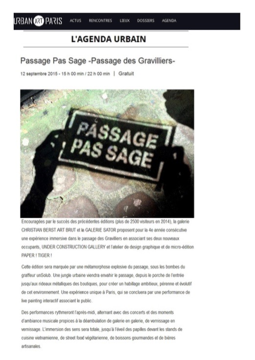 URBAN ART PARIS