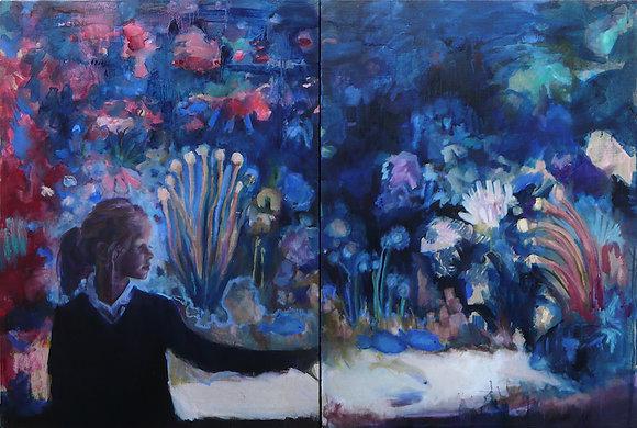Sandrine RONDARD - Dyptique aquarium rouge