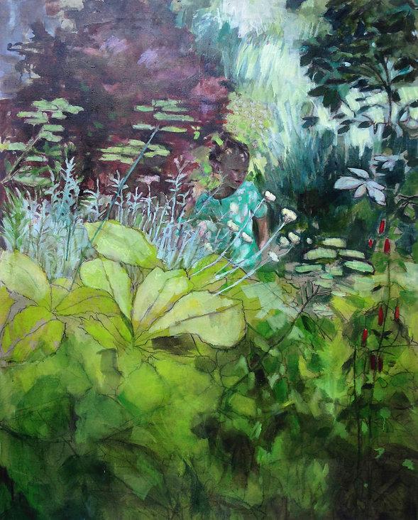 les herbes folles 2, 162 x 130 cm, huile