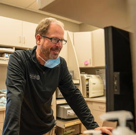 Dr. Dave caught working hard at No Fear Dentistry