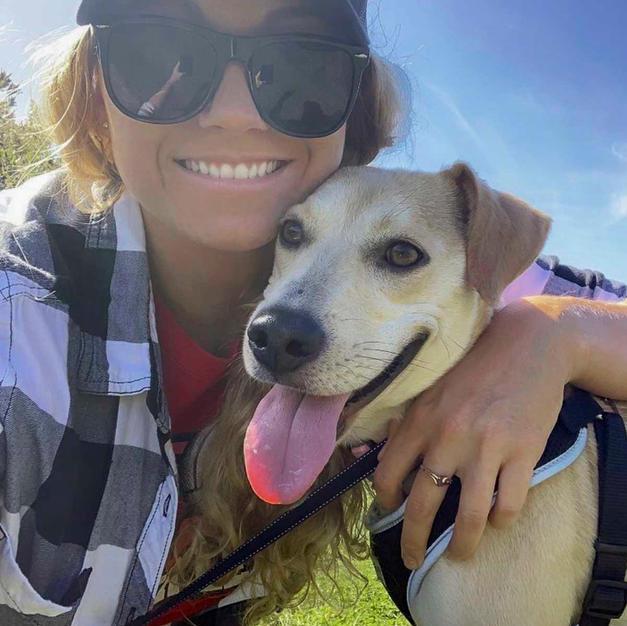 Katie with her dog Esti