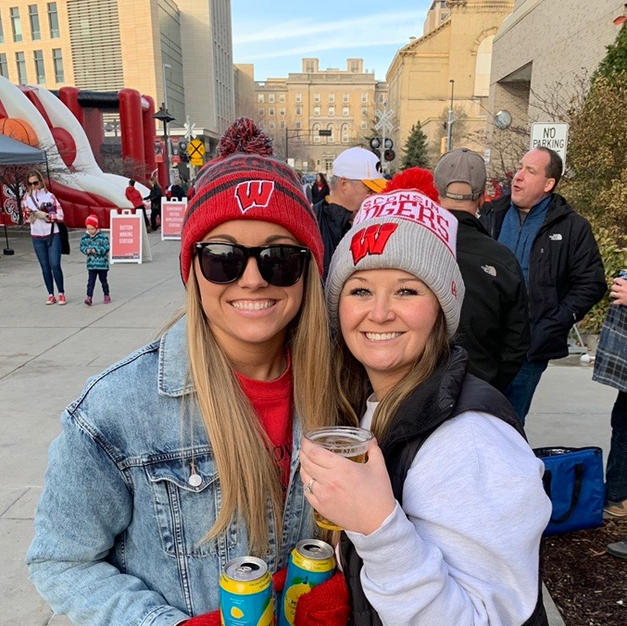 Katie and the Wisconsin Badgers