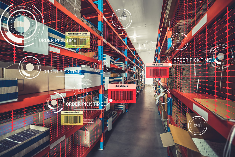 Smart warehouse management system using augmented reality technology to identify package p