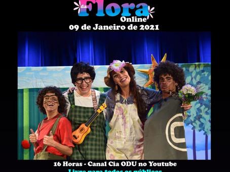 """""""O Quintal da Flora"""" leva diversão on-line neste sábado em Hortolândia"""