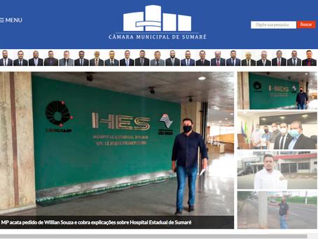 Câmara de Sumaré lança novo site