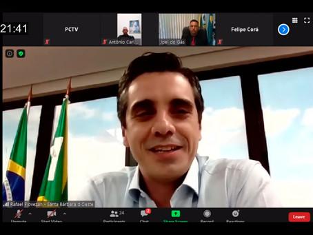 Prefeito Rafael Piovezan participa da 1ª Reunião Ordinária da Câmara Municipal em 2021