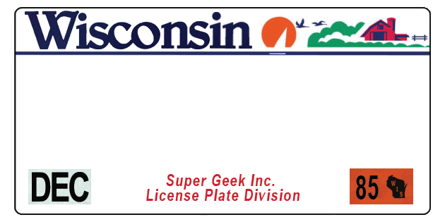 Wisconsin license plate logo